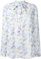 Saint Laurent floral pussy bow blouse