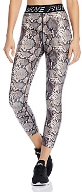 Pam & Gela Move Fast by Snake Print 7/8 Leggings