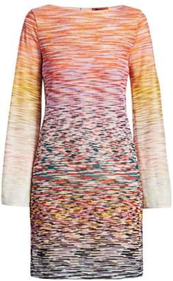 Missoni Bell Sleeve Space-Dye Knit Dress