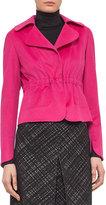 Akris Punto Wool-Blend Drawstring Jacket, Pink