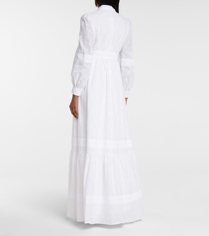 Thumbnail for your product : Erdem Ulrica cotton-blend voile bridal gown