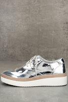 Steven by Steve Madden Pharo Silver Patent Platform Sneakers