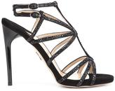Paul Andrew 'Ikaria Strass' sandals - women - Silk/Goat Skin/viscose - 35