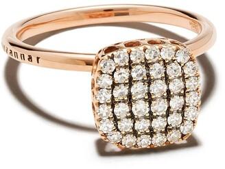 Selim Mouzannar 18kt rose gold diamond Beirut ring