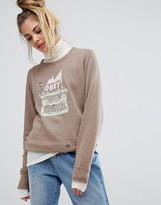 Obey All Work Oversized Sweatshirt With Distressing