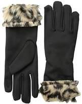 La Fiorentina Women's Glove with Faux Fur Cuff