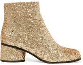 Marc Jacobs Camilla Glittered Leather Ankle Boots - Gold