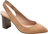 Banana Republic Block-Heel Slingback Pump