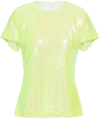 MM6 MAISON MARGIELA Neon Sequined Tulle Top