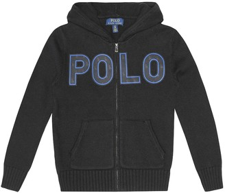 Polo Ralph Lauren Kids Logo cotton and wool hoodie