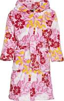 Playshoes Flowers Fleece Hooded Bathrobe Girl's Loungewear