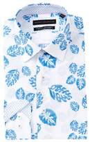 Report Collection Palm Leaf Slim Fit Dress Shirt