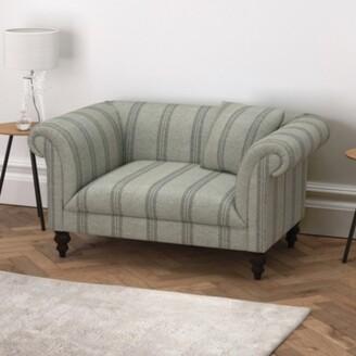 The White Company Earlsfield Stripe Love Seat, Stripe, One Size