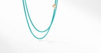 David Yurman Dy Bel Aire Chain Necklace In Turquoise Color With 14K