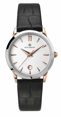 Accurist Women's Analog Japanese Quartz Watch with Leather Strap 8073
