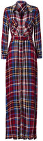 L'Agence Cassie Plaid Maxi Shirtdress