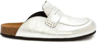J.W.Anderson Metallic Loafer Mules