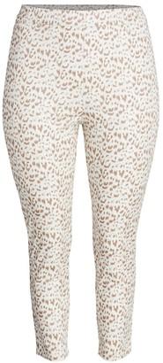 Joan Vass, Plus Size Printed Animal Pants