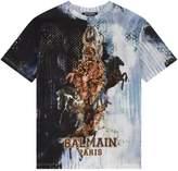 Balmain Stars and Horse PrintT-shirt
