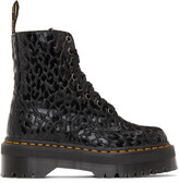 Thumbnail for your product : Dr. Martens Black X-Girl Edition Leopard Jadon Boots