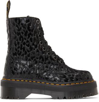 Dr. Martens Black X-Girl Edition Leopard Jadon Boots