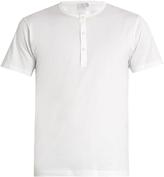Sunspel Crew-neck cotton henley T-shirt
