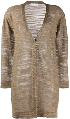 Fabiana Filippi Fine Knit Long Cardigan