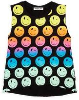Flowers by Zoe Girls' Smiley Cutoff Terry Tank - Sizes S-XL