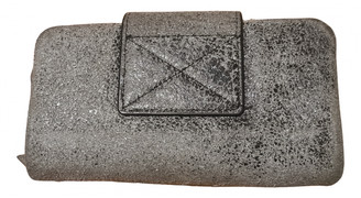 AllSaints Anthracite Leather Wallets