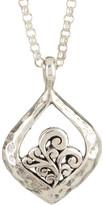 Lois Hill Sterling Silver Open Scroll Teardrop Pendant Necklace
