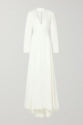 Vanessa Cocchiaro The Ada Smocked Satin Gown - Ivory