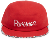 MAISON KITSUNÉ Men's Cap 5P Parisien Red