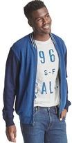 Gap French terry indigo bomber jacket