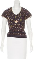 Isabel Marant Abstract Print Silk Top