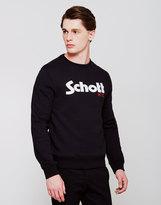 Schott NYC Schott Logo Crew Neck Sweatshirt Black