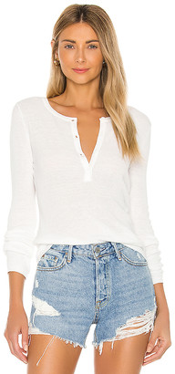 One Grey Day Sterling Long Sleeve Henley Top