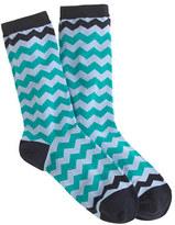 J.Crew Chevron stripe socks