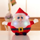Musical Plush Toy Glowing Doll Led Santa Claus Elk Toy Doll Music Baby Kids Christmas New Year Xmas Holiday Gift Puppet Toy Best Gift for Kids 10inch