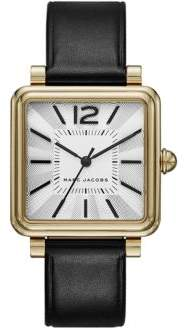 Marc Jacobs Vic Goldtone Stainless Steel & Leather Strap Watch