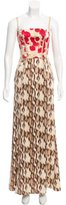 Just Cavalli Sleeveless Printed Gown