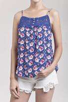 Blu Pepper Floral Crochet Top