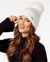 BCBGeneration Thick and Thin Pom Pom Beanie, Only at Macy's