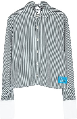 1/Off Paris Ralph Lauren tie-embellished striped cotton shirt