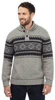 Mantaray Grey Ribbed Knit Jumper