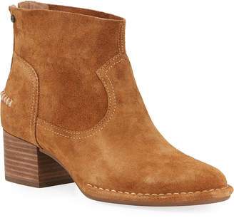 UGG Bandara Suede Block-Heel Ankle Boots