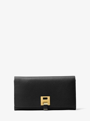 Michael Kors Bancroft Pebbled Calf Leather Continental Wallet