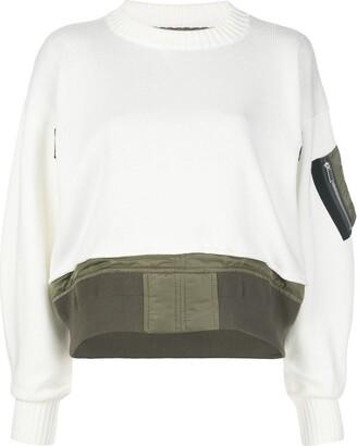 Sacai Sleeve-Pocket Knit Jumper