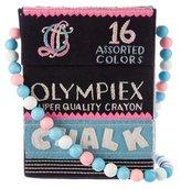 Olympia Le-Tan Embroidered Chalk Box Crossbody Bag