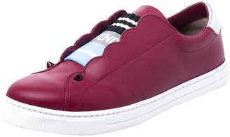 Fendi \N Red Leather Trainers