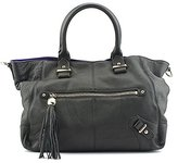 Dolce Vita Pebble Leather Tote with Contrast Suede Convertible Top Handle Bag